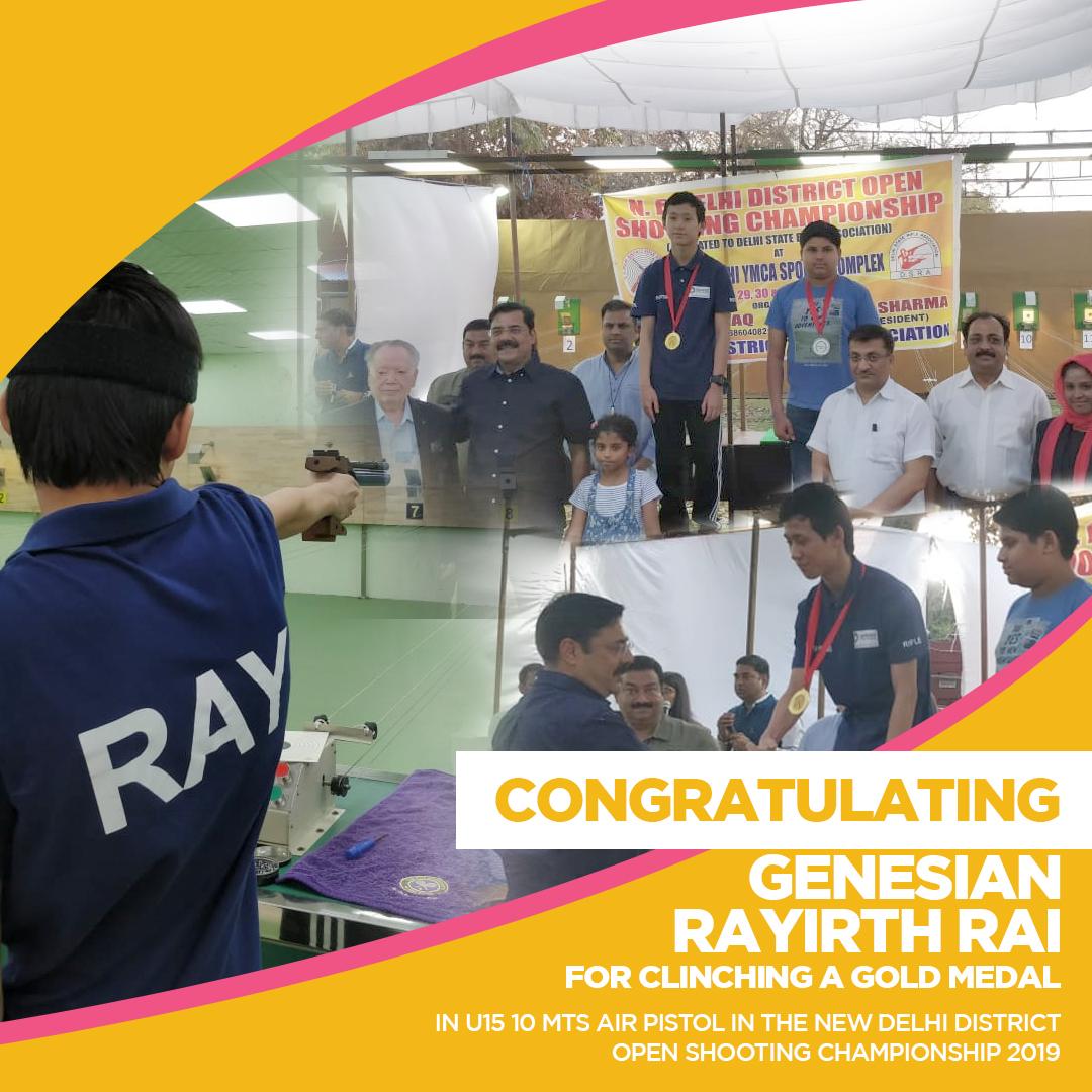 Congratulating Genesian Rayirth Rai