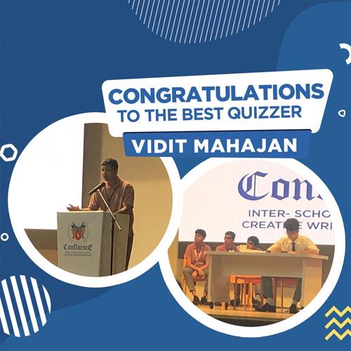 Congratulating! Vidit Mahajan